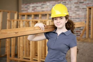 Teen construction worker