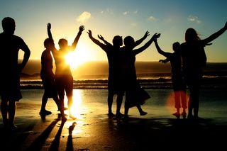 Joy at the beach
