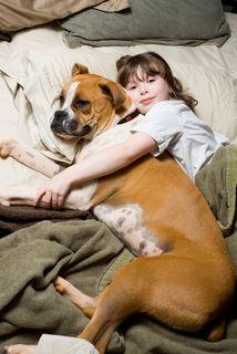 Littlegirl and dog