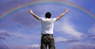 Rainbow synchronicity