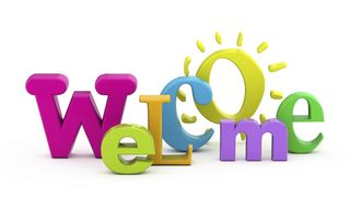Welcome colorful